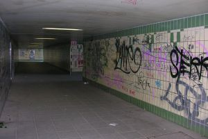 Graffiti im Fußgängertunnel in Dallgow-Döberitz