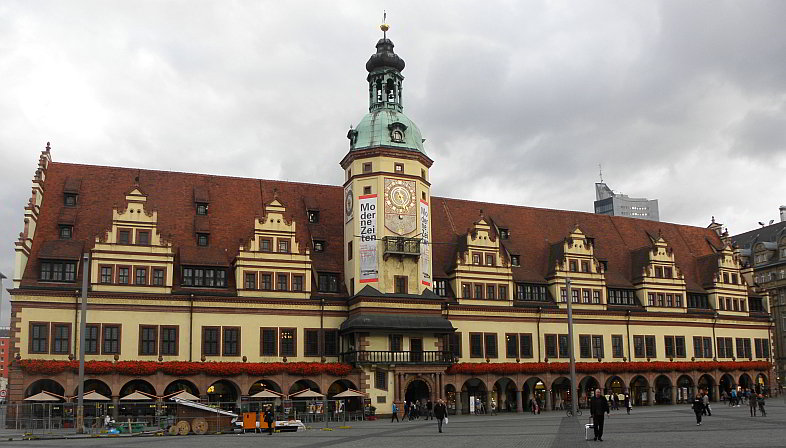 markt und altes rathaus in leipzig. Black Bedroom Furniture Sets. Home Design Ideas